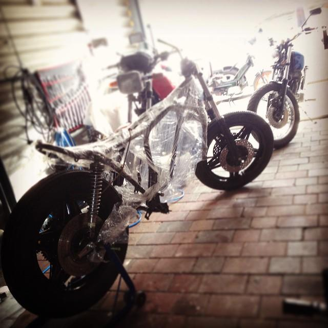 past, present and future #project #motorcycles. CB250 city #tracker, CB750…