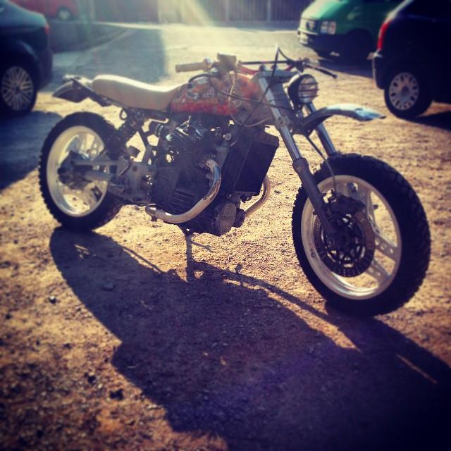 #custom #honda CX500 with mono suspension at the back and…