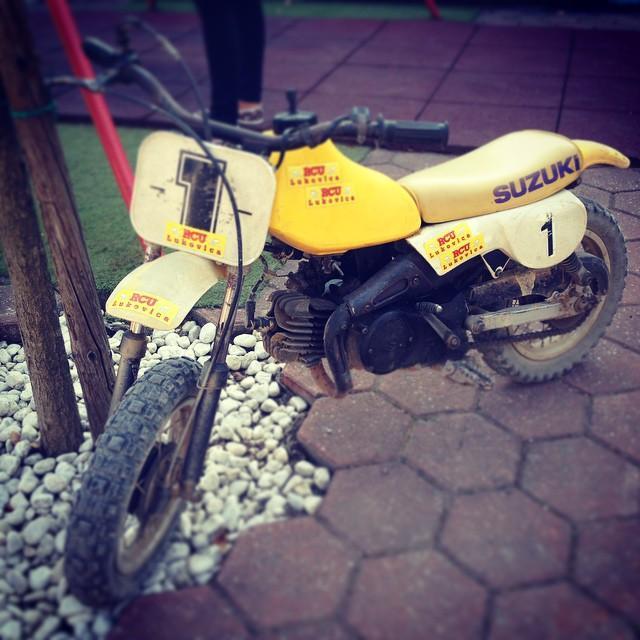 #vintage mini #dirtbike #suzuki 50ccm #dirt #cross #motocross #minicross #77c…