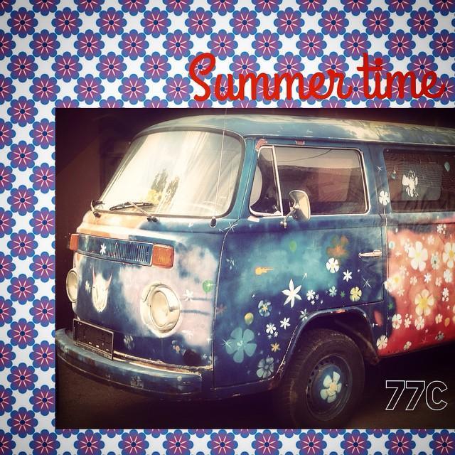 77c summer time 77 flowerpower vw bus 7sevencustoms