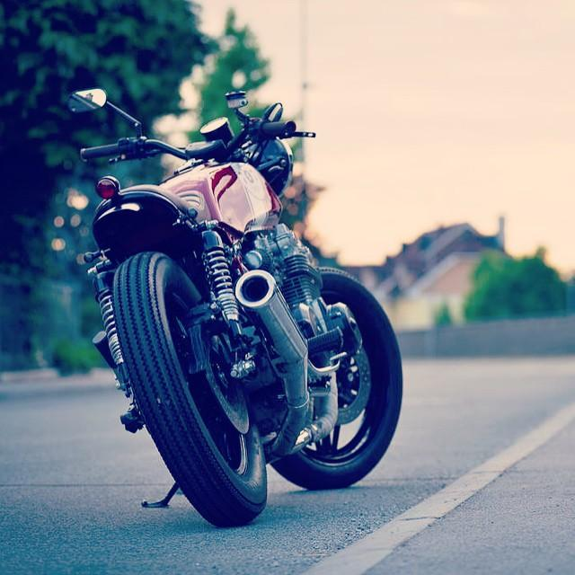 Latest project Honda CB750 four aka RedSun out of ourhellip