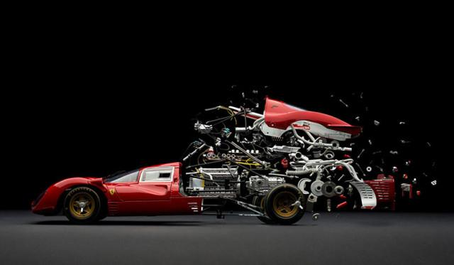fabian oefner explodes views of classic sports cars designboom 13 640x373 fabian oefner explodes views of classic sports cars
