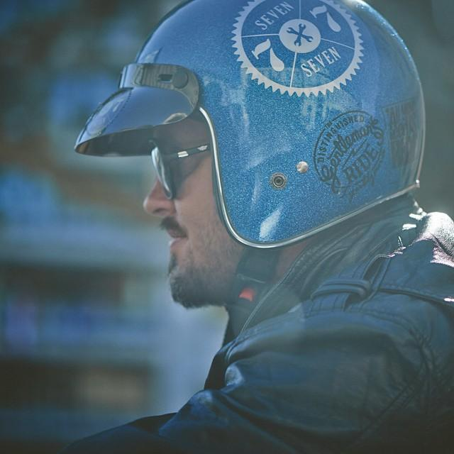 #MEtalbluelid #happycamper #77 #77c #7sevencustoms #mopedgang #leatherandsunglasses #vintage