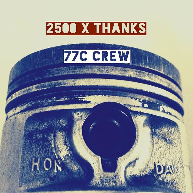 2500 followers on fb  #7sevencustoms page - almost 1k here on #insta - THX #people #77 #77c #7seven